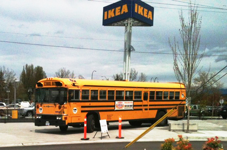 vancouver school bus services ikea for its richmond grand. Black Bedroom Furniture Sets. Home Design Ideas